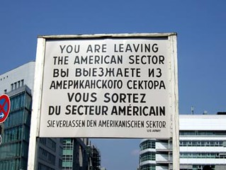 Checkpoint Charlie signs