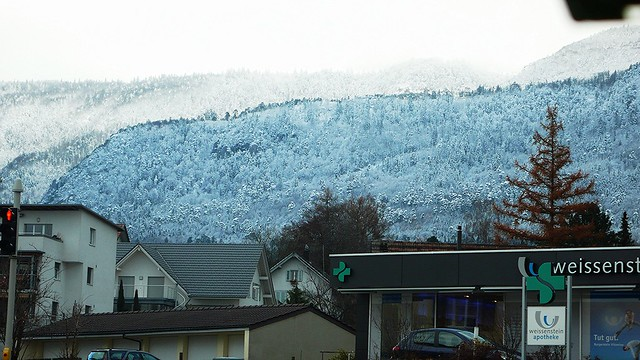 Snow on the Jura