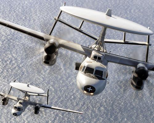 [フリー画像素材] 戦争, 軍用機, E-2 ホークアイ, アメリカ軍 ID:201212060000