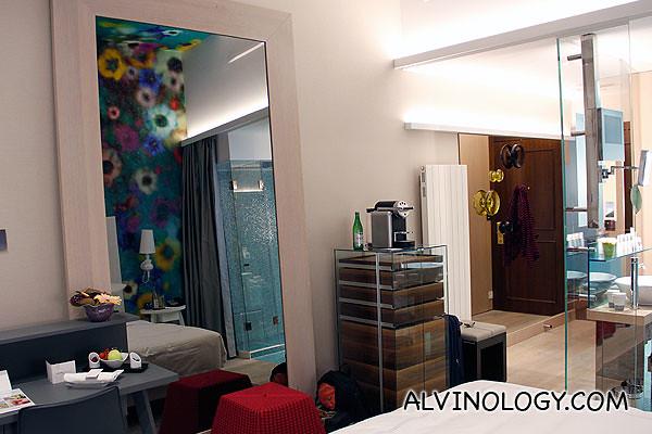 The modern room interior