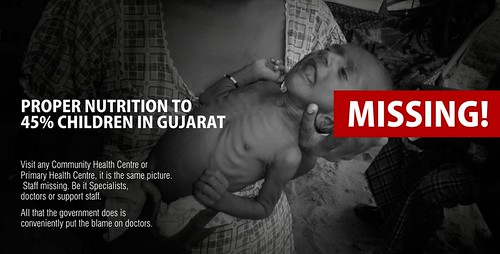 Gujarat Congress uses image of Sri Lankan flood victim baby for malnutrition