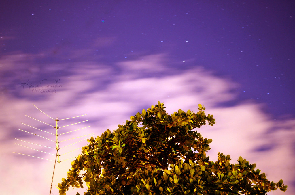 O céu a noite