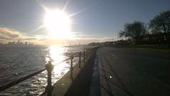Liverpool from Vale Park Promenade Gates: Copyright 1st December, 2012 Kevin & Jane Moor