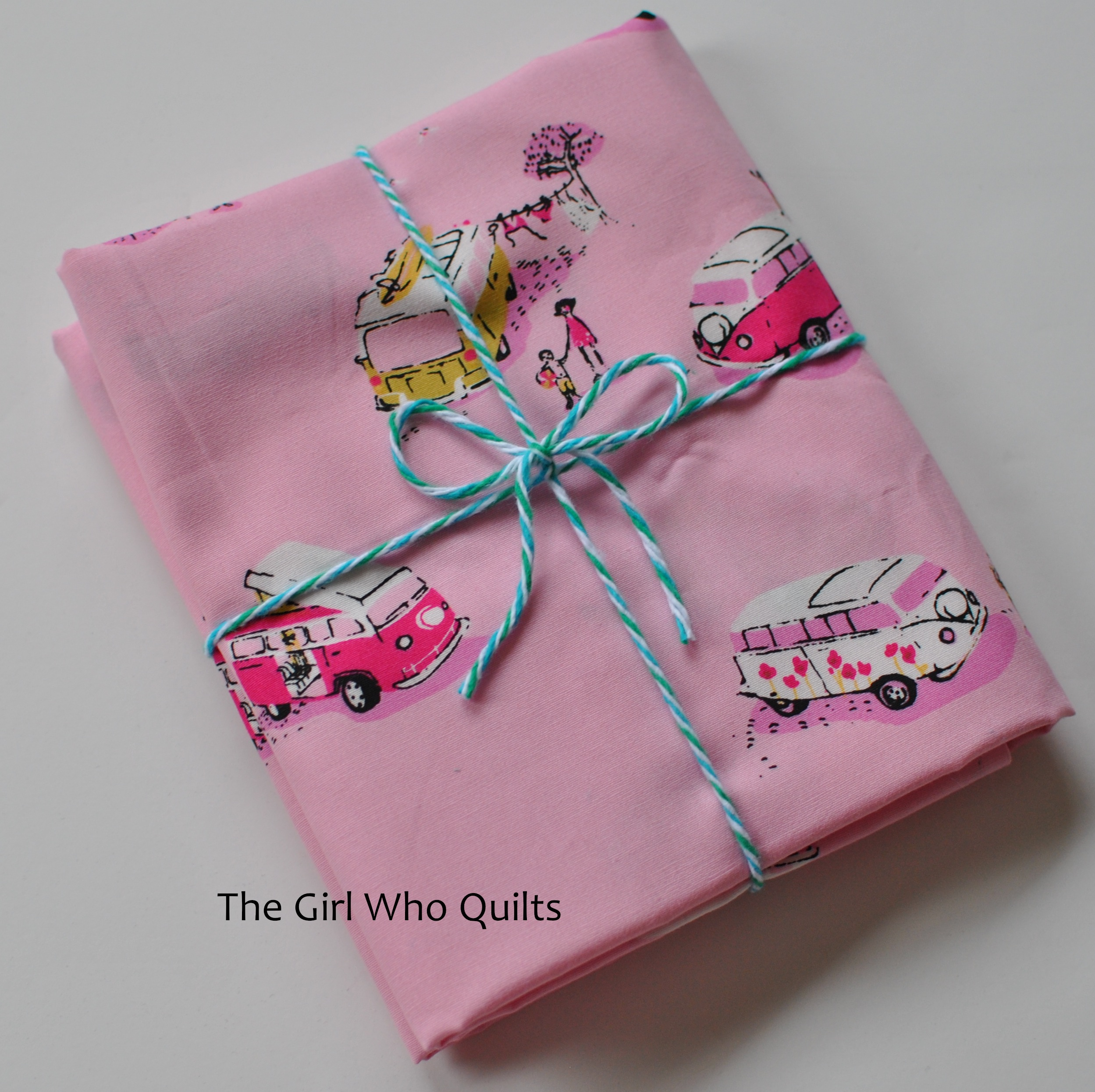 Heather Ross Camper Van Fabric in pink - Giveaway!!