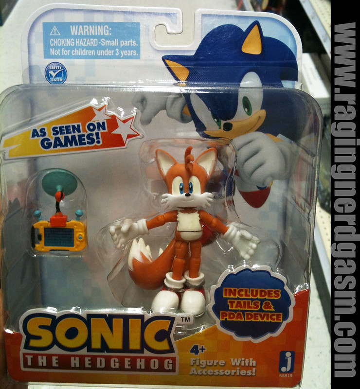 Sonic The Hedgehog 3 inch figures Tails and PDA Device  by Jazwares 007