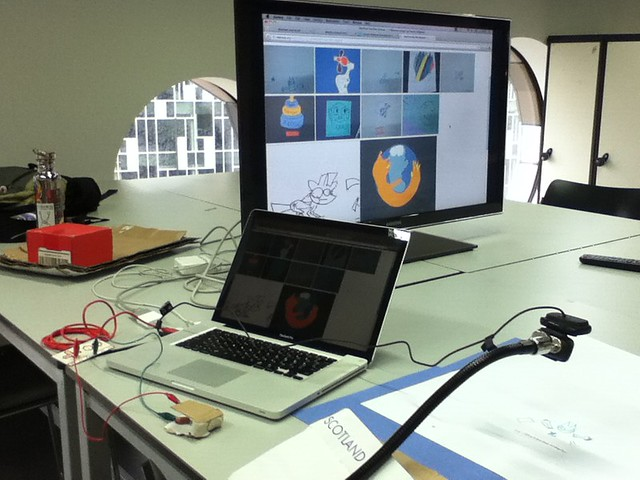 Mozfest animation studio setup