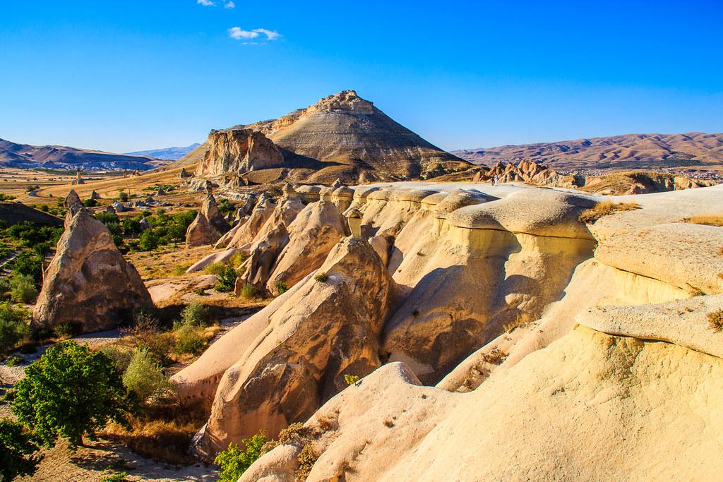 カッパドキアの岩岩の風景