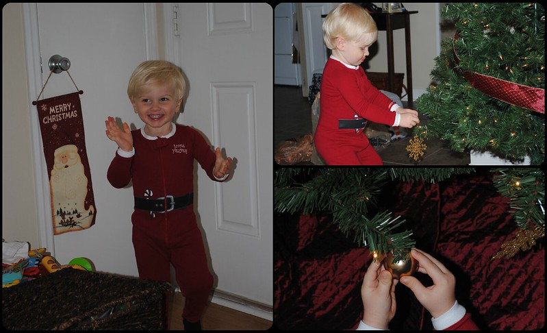 connor decorating the tree