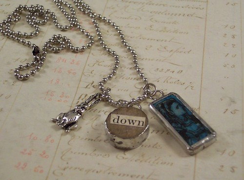 Alice Down the Rabbit Hole charm necklace