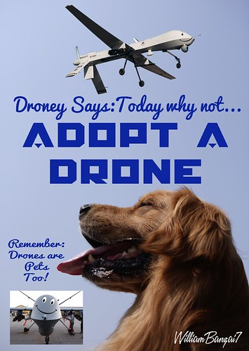 ADOPT A DRONE POSTER by Colonel Flick/WilliamBanzai7