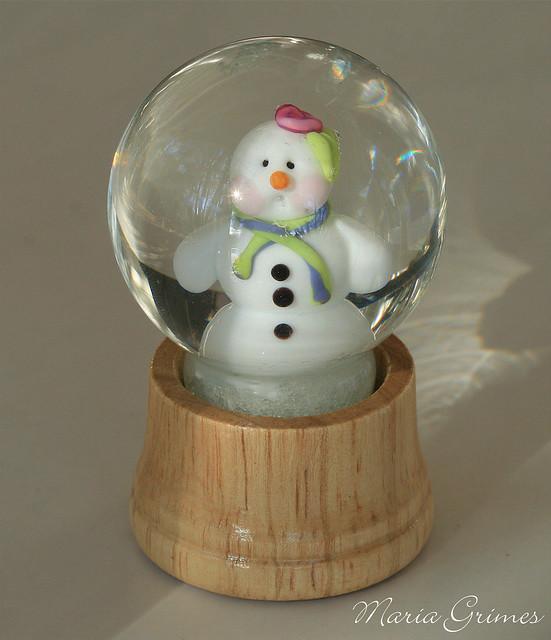 Lampwork Snow Globe