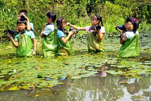 學校水草塘是生態攝影樂園 攝影:謝基煌