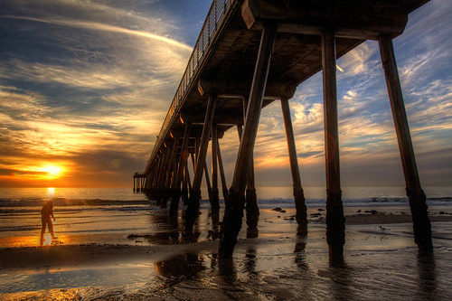 ocean california sunset strand pier sand southerncalifornia hermosabeach the hermosabeachpier