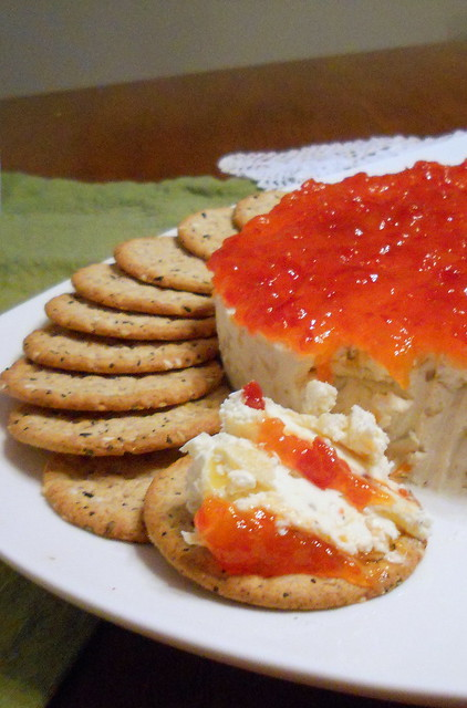Savory Goat Cheese-Hot Pepper Cheesecake
