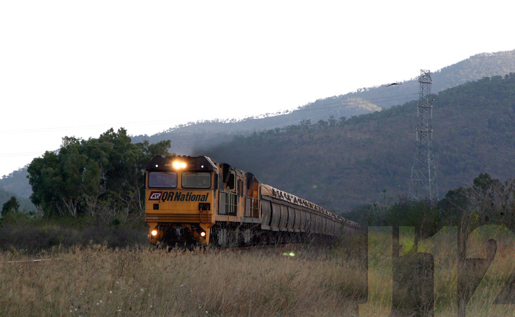 QR National 2839 / 2826 journeys through Haughton Valley area, on route to Townsville ~27.09.12 by James 460