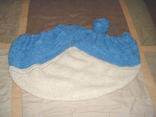 handspun blanket mostly blue