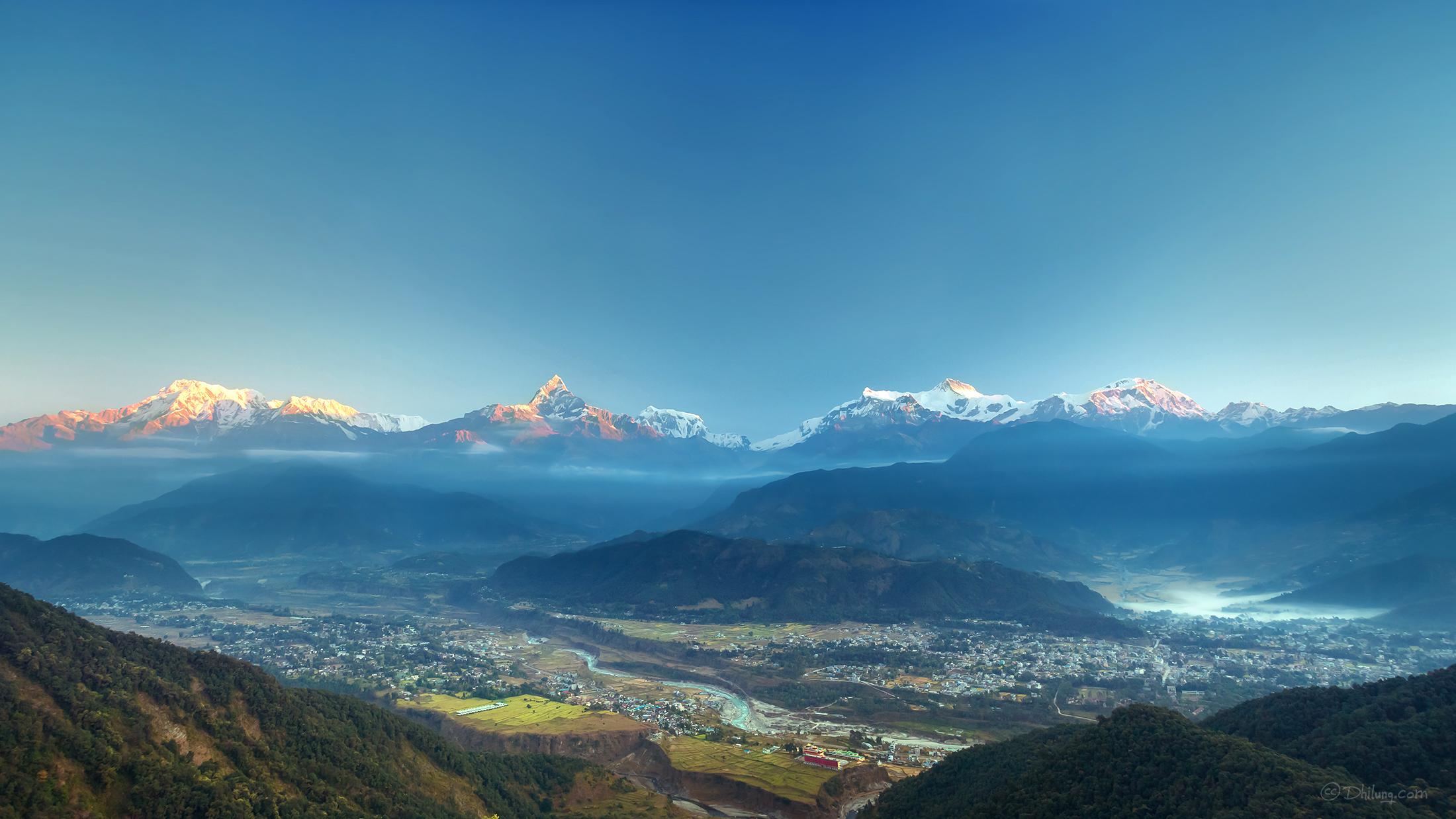 Elevation of Kaski, Nepal - MAPLOGS