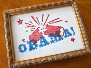 Obama letterpress print