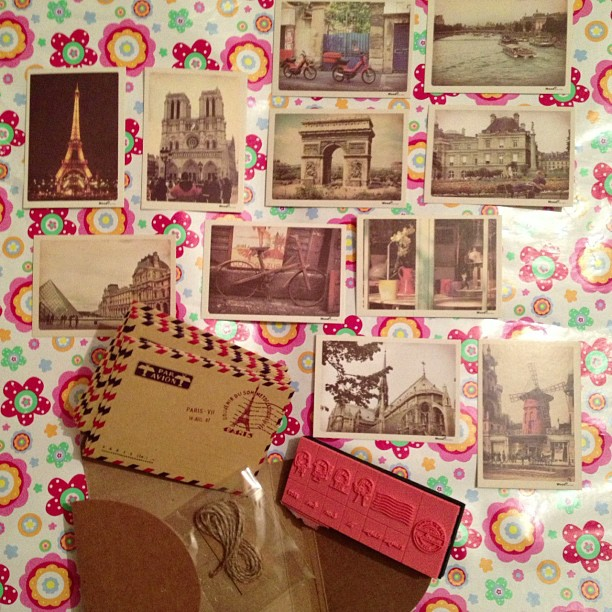 #vintage #snailmail #paris #cards #envelopes #cute
