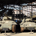 US M36 Tank destroyer and US M24 'Chaffee', Beijing