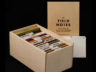 Field Notes Brand Archival Wooden Box set of notebooks