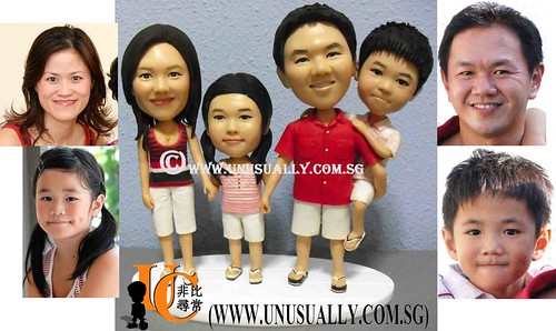 Lovely Family Of 4 Figurines - © www.unusually.com.sg