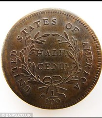 Mark Hillary 1796 half cent rev