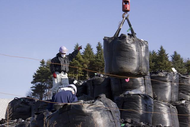 GLOBAL 2000 Fukushima Visit temporary storage site of radioactive material post decontamination