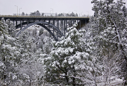 Omega Bridge after snow fall