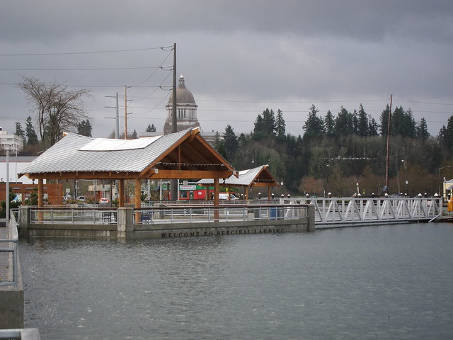 9:30 A.M. Monday 17 December 2012, Percival Landing High Tide