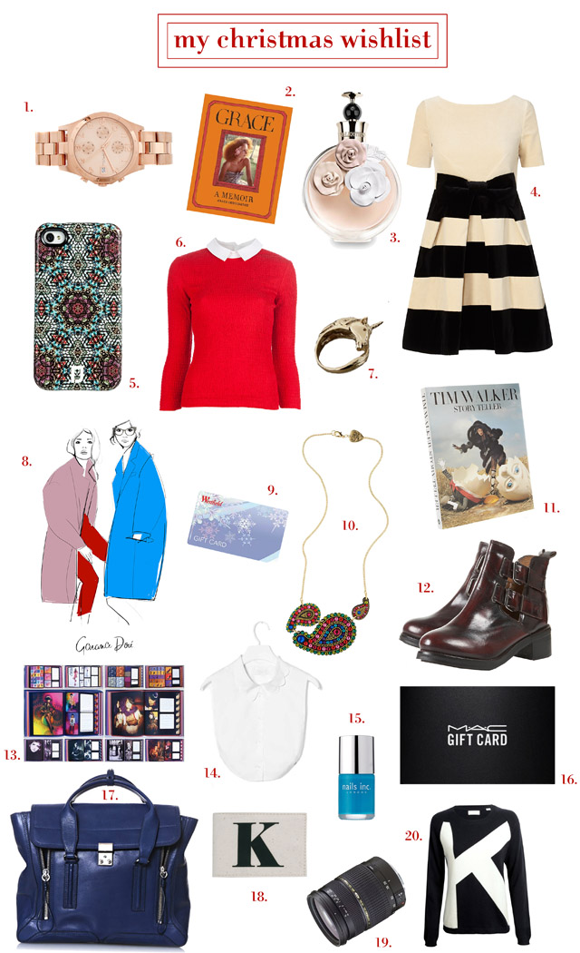 fashion blog christmas gift guide wishlist