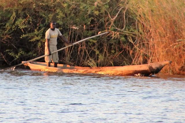 A MOKORO (Namibian fishing boat) on the NAMIBIA & BOTSWANA border 20160808