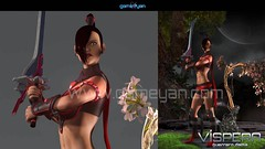 3D Warrior Game Character Modeling and Rigging for Lady