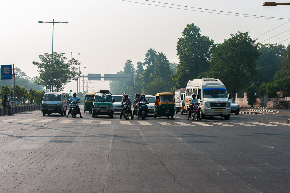 Traffic in the Delhi