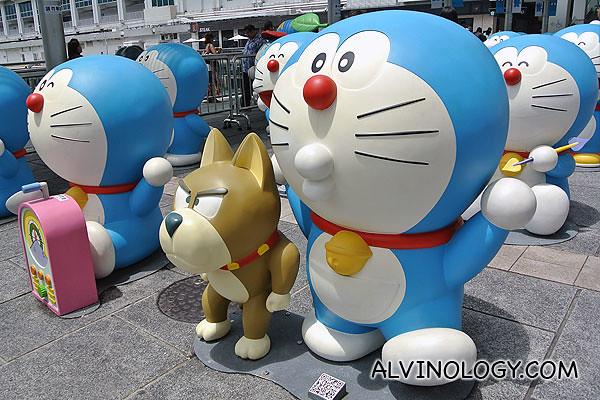 Doraemon with a pet dog