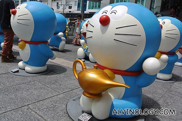 Doraemon with a magic lamp