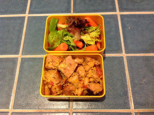 Bento Baon with sausage and beans