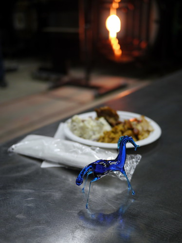 Glass Horse with Food