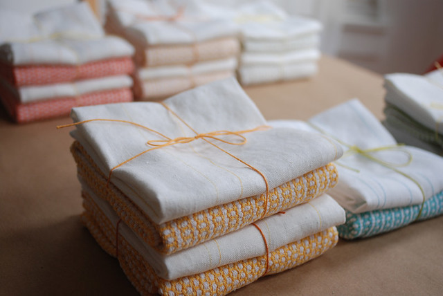 Handwoven and Embroidered Tea Towels for PGHW Holiday Sale