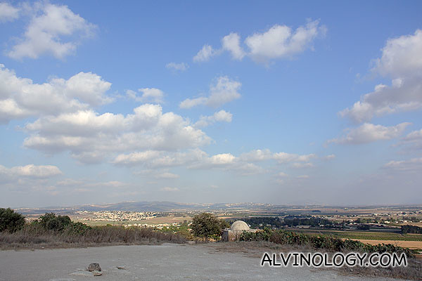 View from the hilltop which the statue oversees
