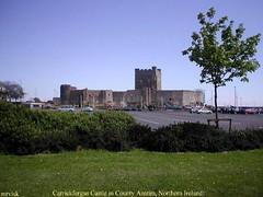 Irish Castles.- Carrickfergus Castle, County Antrim in Northern Ireland.