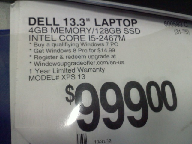 Dell XPS 13 Ultrabook running OpenBSD $999