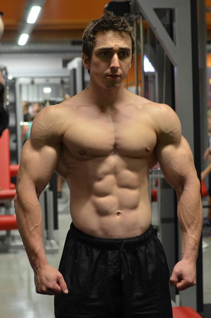 Buff muscle stud uses young cheerleader