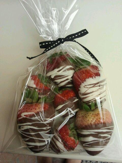 Jasmine made chocolate covered strawberries
