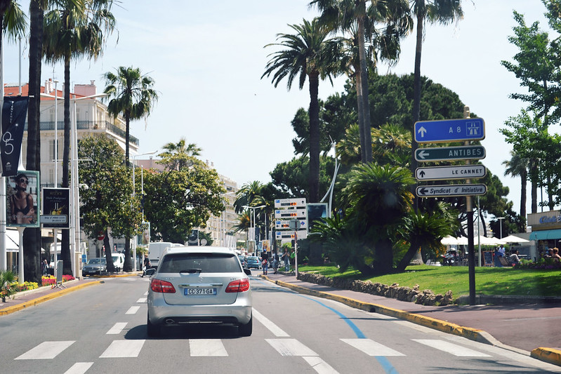 Driving through Côte d'Azur