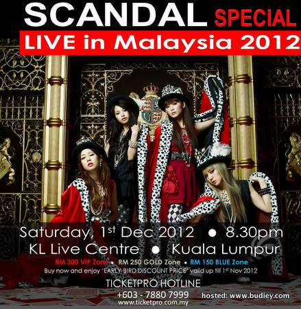 SCANDAL SPECIAL LIVE IN MALAYSIA 2012