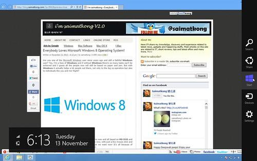 Windows 8 Charm Bar