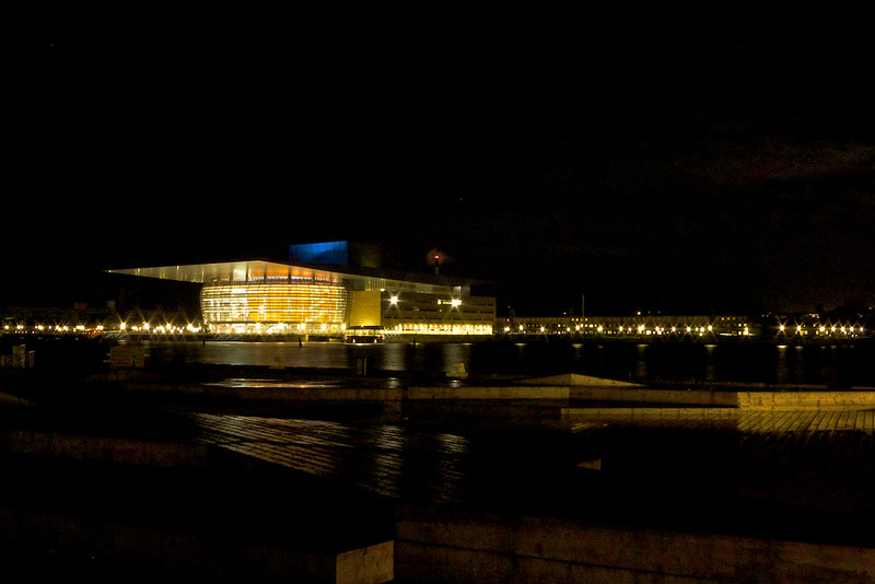 The København Opera House by night