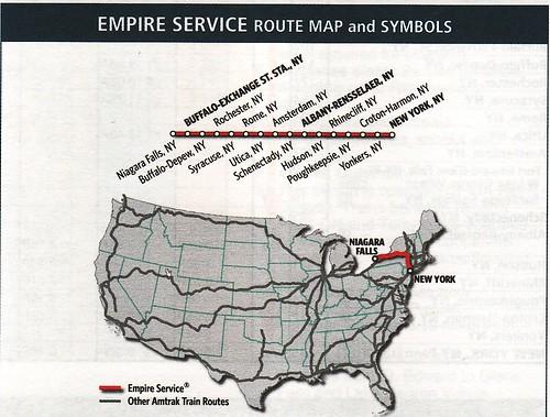 Amtrak Empire Service 06-2010 Map