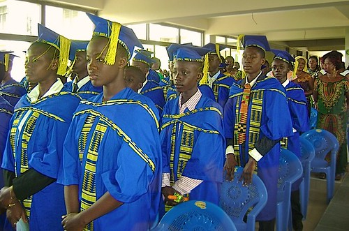 Graduation day for the Junior High School at St Louis Jubilee School, Kentinkrono, Ghana